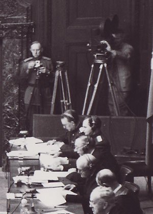 Filkming the first Nuremberg trial.